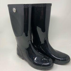 Ugg Black Tall Rain Boots Size 9 1012350